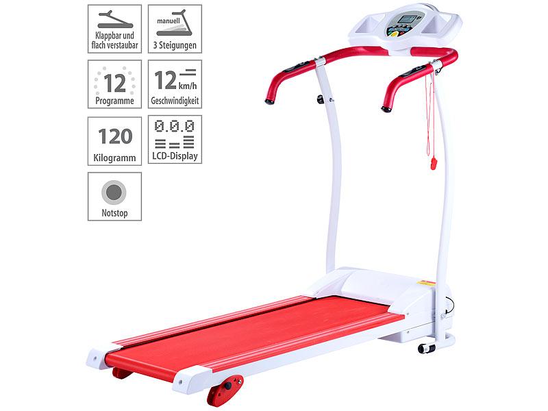 newgen medicals Premium-Laufband, 1,5 PS, 12 km/h, Steigung, bis 120 ...