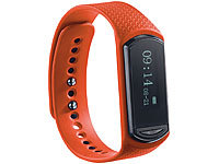 newgen medicals Wechsel-Armband für Fitness-Tracker FBT-40.HR, orange; Fitness-Armbänder mit Bluetooth