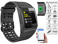 newgen medicals GPS-Sportuhr, Bluetooth, Fitness, Puls, Nachrichten, Farbdisplay, IP68; Fitness-Armbänder mit Bluetooth Fitness-Armbänder mit Bluetooth Fitness-Armbänder mit Bluetooth Fitness-Armbänder mit Bluetooth