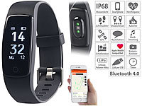 newgen medicals Premium-Fitness-Armband mit XL-Touch-Display, für 14 Sportarten, IP68