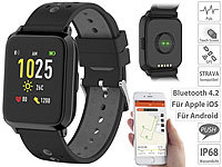 newgen medicals GPS-Sportuhr, Always-On-Display, Bluetooth, App, IP68, 1 Mon. Laufzeit
