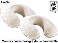 newgen medicals Wellness-Nackenhörnchen aus thermoaktivem Memory-Foam, 2er-Set