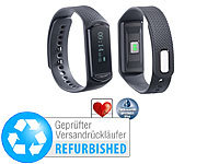 newgen medicals Fitness-Armband FBT-40.HR mit Herzfrequenz-Messung (refurbished); Fitness-Armbänder mit Bluetooth